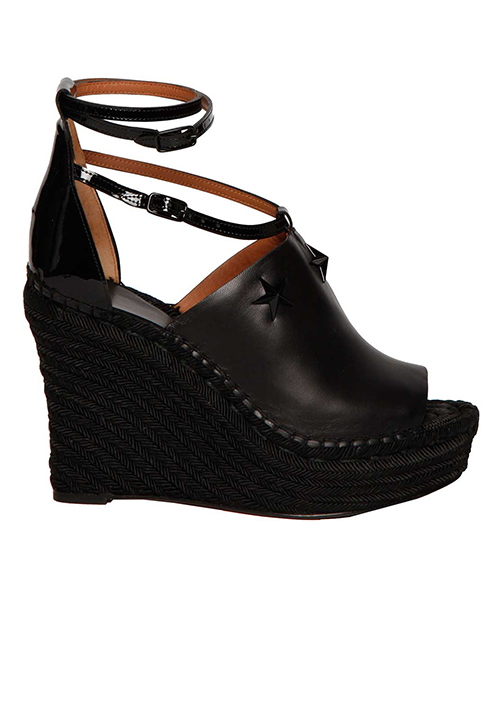 Givenchy Leather Studded Wedge