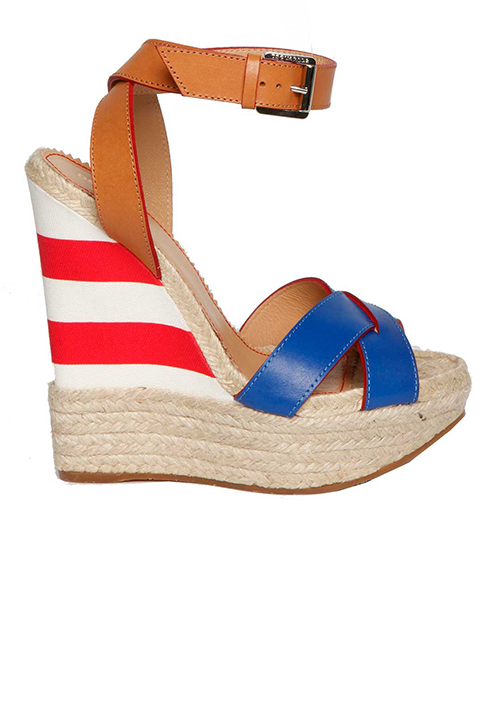 Dsquared2 Striped Print Espadrillas Wedges