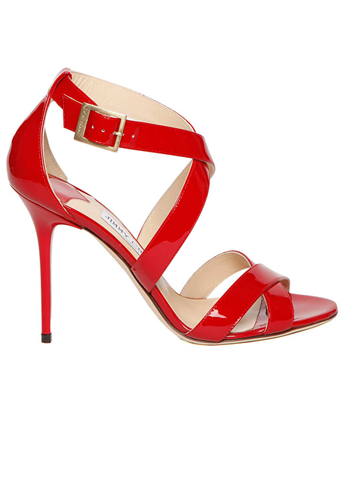 Jimmy Choo Lottie Sandal In Patent Leather