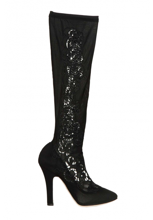 Dolce & Gabbana Jersey Stretch High Boots