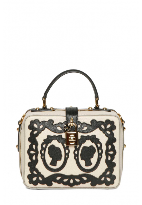 Dolce & Gabbana Leather Embroidered Tote Bag